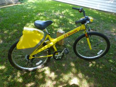 bob s bricklin ev warrior electric bicycle 31 2016 no space in the garages or driveway you d think i would not be adding to the inventory right wrong i picked up an ev warrior